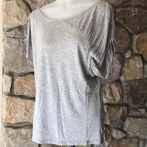 Soft flowy T-shirt with sleeve embellishment